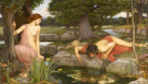 John William Waterhouse, Echo and Narcissus, Selfie, Social Media