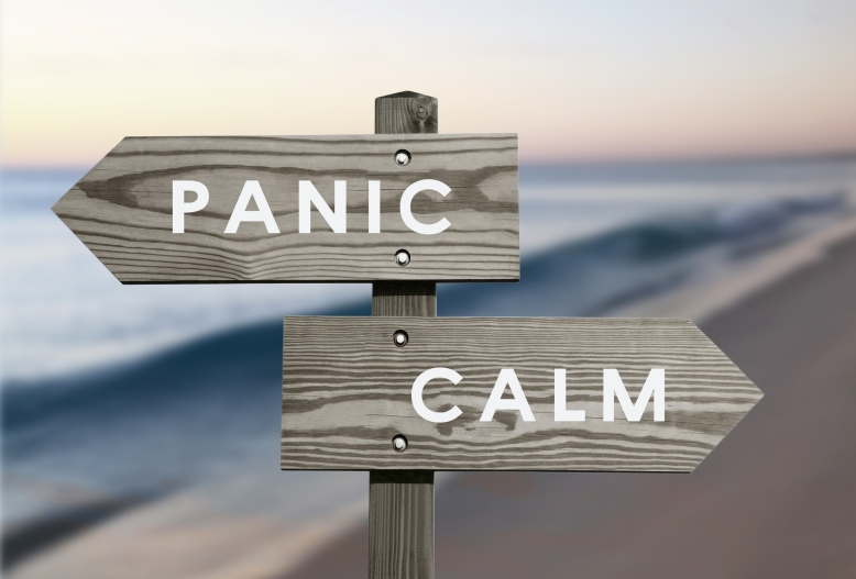 Calm vs Panic, Pandemic, Peace, Wellness